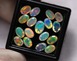 5.73Ct Multi Color Ethiopian Welo Faceted Opal ~ D2115