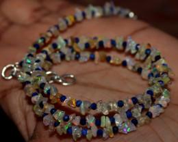 25 Crt Natural Ethiopian Welo Fire Uncut Opal & Lapis Lazuli Beads 4
