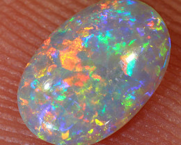 0.4ct 7x4.7mm Solid Lightning Ridge Crystal Opal [LO-1401]