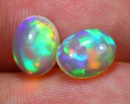 2.44Ct Flash Multi Color Ethiopian Welo Opal Pair~ C2205