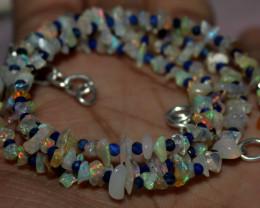 27 Crt Natural Ethiopian Welo Fire Uncut Opal & Lapis Lazuli Beads 10