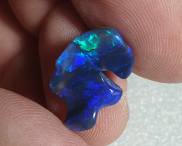 4crt Black Opal Carving NEMO Lightning Ridge