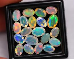 6.86Ct Multi Color Ethiopian Welo Faceted Opal ~ D2304