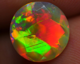 1.70 CRT GORGEOUS ROUND FACETED BROADFLASH NEON FIRE PATTERN WELO OPAL
