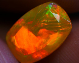 1.95 CRT DARK BASE FACETED BROAD STRIPE PATTERN PLAY COLOR WELO OPAL