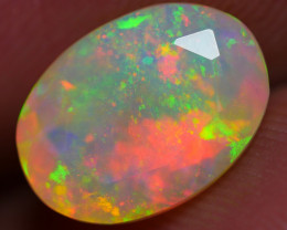2.10 CRT BRILIANT FACETED ROLLING FLASH PATCHWORK PLAY COLOR WELO OPAL