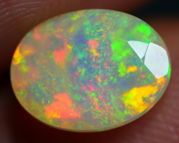 1.55 CRT TRIANGLE FACTED CHAFF PATTERN FIRE COLOR WELO OPAL