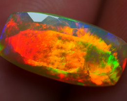 2.15 CRT GORGEOUS FIRE WORKS BRIGHT COLOR FACETED WELO OPAL