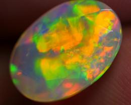 1.80 CRT VERY STUNNING BLOCK NEON FLORAL FACETED WELO OPAL