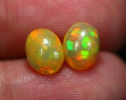 2.32Ct Play Of Color Ethiopian Welo Opal Pair ~ C2403
