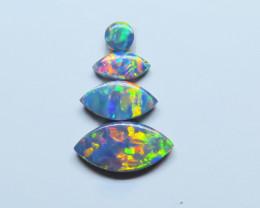 Assorted 4  Stone Australian Doublet Opal Parcel
