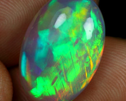 8.30cts Top 5/5 Broad Chaff Fire Natural Ethiopian Welo Opal