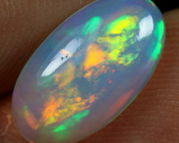 SUPER DEAL 2.25cts Broad Flash Rainbow Fire Ethiopian Opal