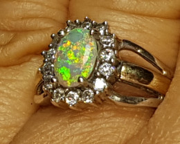 Beautiful opal ring LIGHTING RIDGE