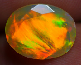 2.00 CRT AMAZING FACETED BROAD STRIPE NEON FLASH PLAY COLOR WELO OPAL