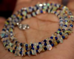 26 Crt Natural Ethiopian Welo Fire Uncut Opal & Lapis Lazuli Beads 15