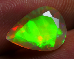 1.95 CRT BEAUTIFUL HOLOGRAM FACETED NEON FLASH PLAY COLOR WELO OPAL