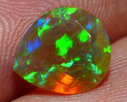 1.20 CRT DARK BASE FACETED GALAXY RAINBOW PIN FIRE WELO OPAL