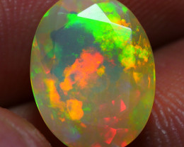 1.70 CRT BEAUTY FACETED WELO CHAFF FLORAL PATTERN WELO OPAL