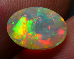 1.35 CRT BEUATY FACETED WELO CHAFF 3D FLORAL PATTERN PLAY COLOR WELO OPAL