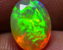 1.90 CRT BEAUTY FACETED FLORAL PATTERN PLAY COLOR WELO OPAL