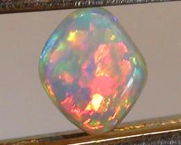 0.30 ct $1 NR Stunning Gem Lightning Ridge Crystal Opal Ring Stone