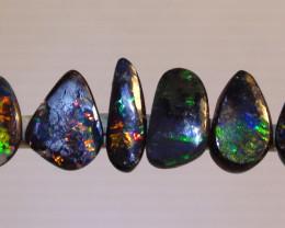 3.50ct 6 Gem Multi Color Boulder Opal Ring Stone Parcel