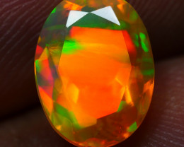 1.50 CRT STUNNING FACETED BROADFLASH 3D RIBBON FIRE COLOR WELO OPAL