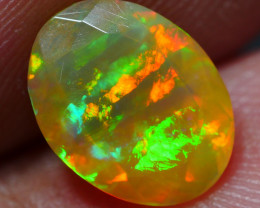1.30 CRT BEAUTY FACETED NEON FLASH RIBBON PATTERN PLAY COLOR WELO OPAL