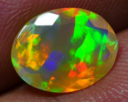 1.30 CRT GORGEOUS FACETED ROLLING FLASH RAINBOW PATTERN WELO OPAL