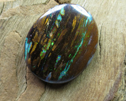 "22cts,""WOOD FOSSIL OPAL~2 SIDED!"""