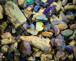 2860.00 CTS COLOURFUL OPAL ROUGH MINE RUN FROM LIGHTNING RIDGE[BR-SAFE142]