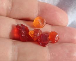 Facet Rough Mexican Fire Opal Lot / 13.23ct / 9 x 9 x 7.5mm 13 x 9 x 6 mm 1