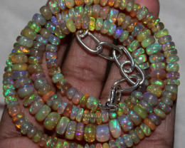 67 Crt Natural Ethiopian Welo Fire Opal Beads Necklace 155