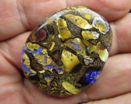"""97cts,""""2 SIDED CONGLOMERATE PATTERN OPAL"""""""