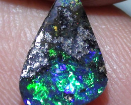 1.25 ct Beautiful Electric Blue Green Color Natural Queensland Boulder Opal