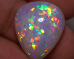 11.69 CT  5/5 BRIGHTNESS WHITE BASE TOP  Quality Welo Ethiopian Opal