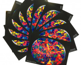 TEN  OPAL POSTERS 'FOREST FIRE ' -QUALITY GLOSSY PAPER A4 SIZE