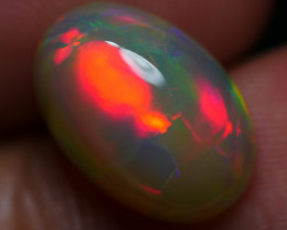 4.05 CRT WONDERFUL DARK BASE ROLLING FLASH PATCHWORK FIRE WELO OPAL-