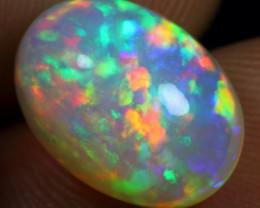 Top AAA 5.50cts Multi Flash Crayon Rainbow Fire Natural Ethiopian Welo Opal