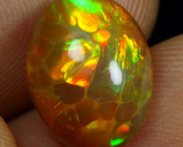3.70cts Golden Bumble-Bee Pattern Natural Ethiopian Welo Opal