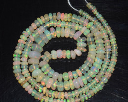 34.45 Ct Natural Ethiopian Welo Opal Beads Play Of Color
