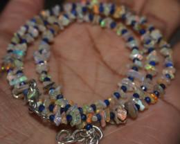 27 Crt Natural Ethiopian Welo Uncut Opal & Lapis Lazuli Necklace 31