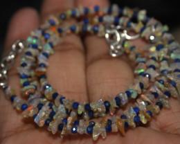 23 Crt Natural Ethiopian Welo Uncut Opal & Lapis Lazuli Necklace 29