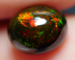 1.90 CRT BRILLIANT SMOKED PEACOCK FLOWER FIRE WELO OPAL-