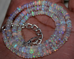 34 Crt Natural Ethiopian Welo Fire Opal Beads Necklace 11