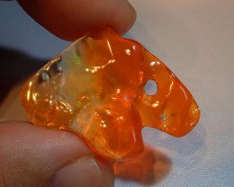 16.66ct Extremely Bright Carved Mexican Fire Opal
