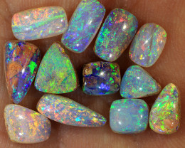 Small 12pcs 6.3ct Crystal Pipe Boulder Opal Parcel [LOB-2442]