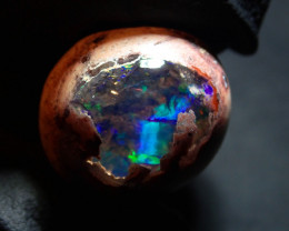 7.5ct Natural Mexican Matrix Cantera Multicoloured Fire Opal