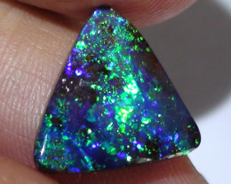 6.0 ct Top Quality Gem Dark Base Blue Green Color Queensland Boulder Opal